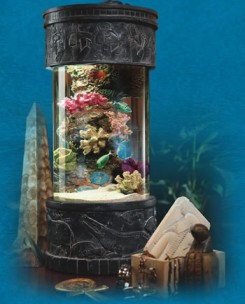 ocean treasures collection designer nano tank desktop aquiarum, ancient egypt