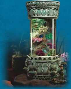 ocean treasures collection designer desktop aquiarum nano tank, sea nymph